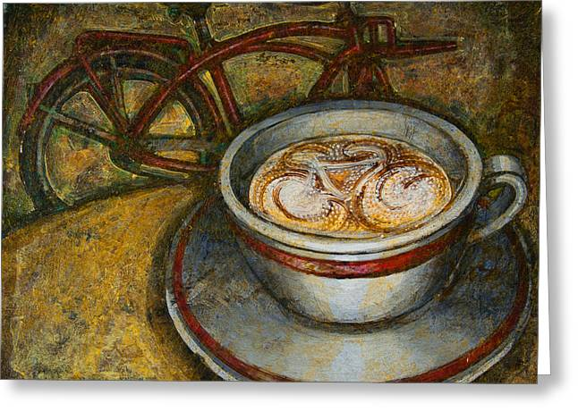 Still Life With Red Cruiser Bike Greeting Card by Mark Jones