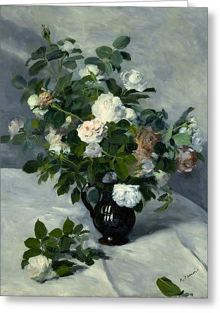 Still Life With Roses Greeting Card by Pierre-Auguste Renoir