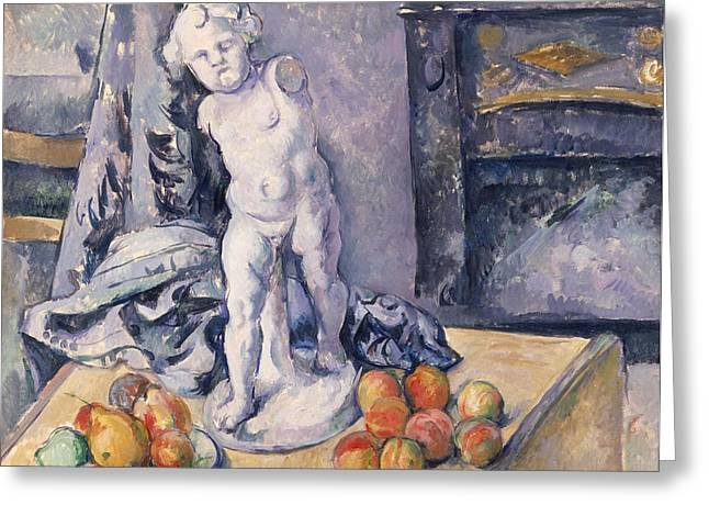 Still Life With Statuette Greeting Card by Paul Cezanne