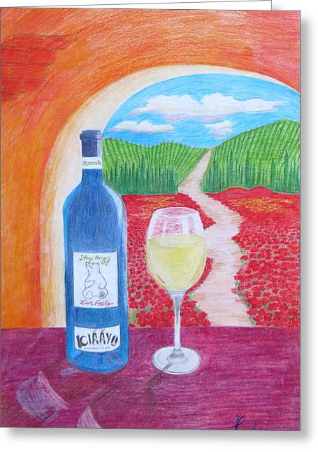 Tuscan Wine Greeting Card