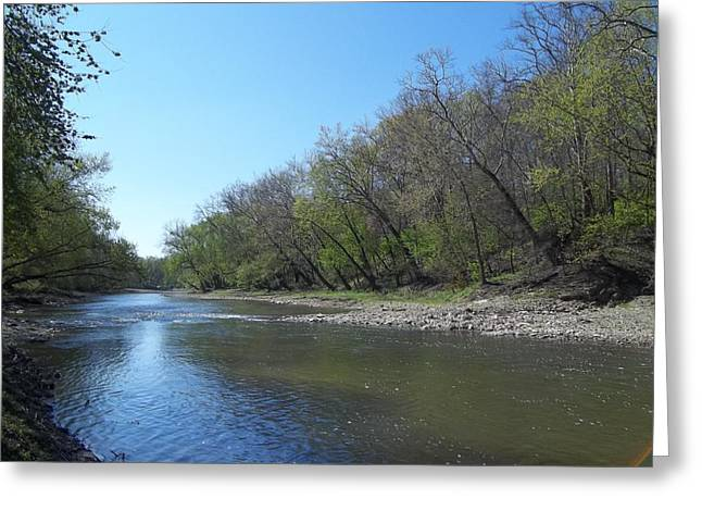 Still Water River Greeting Card