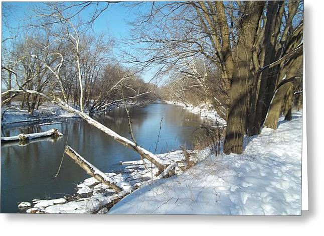 Still Water River Winter Greeting Card