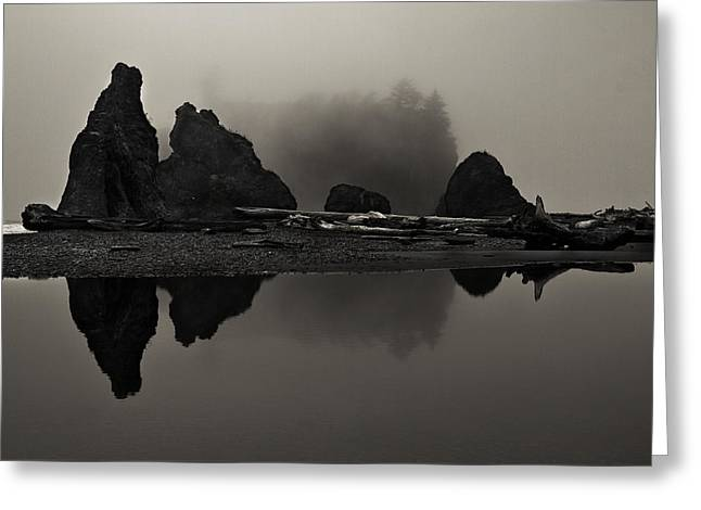 Stillness At Ruby Beach Greeting Card