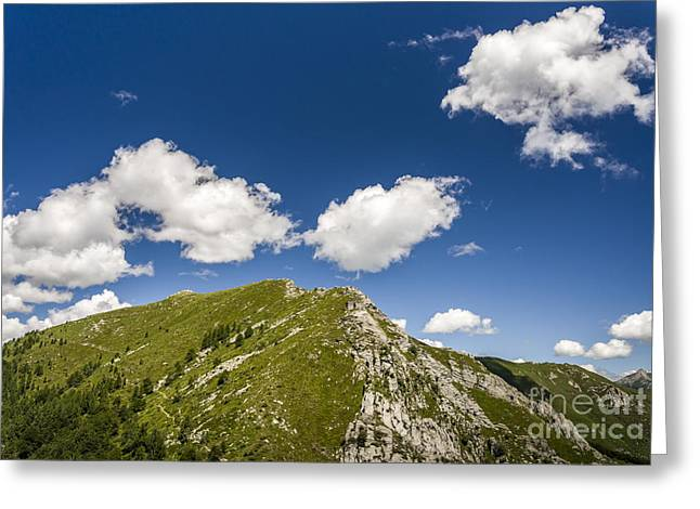 Stillness At The Peak Of Cimetta Greeting Card by Ning Mosberger-Tang