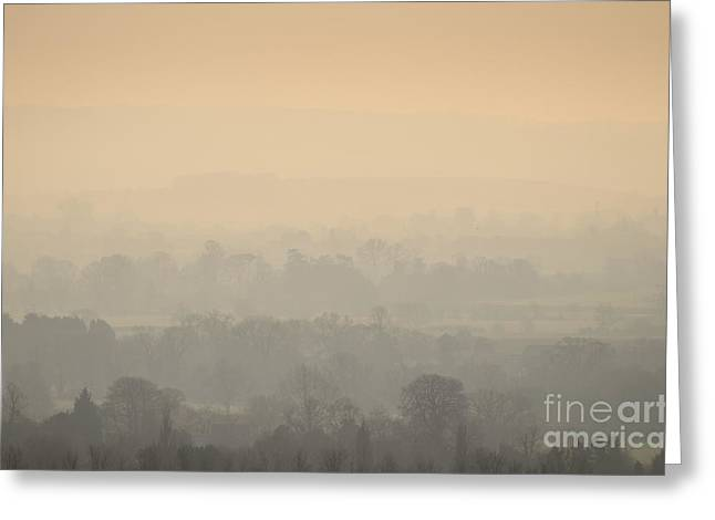 Stillness Over The Oxfordshire Countryside Greeting Card by OUAP Photography