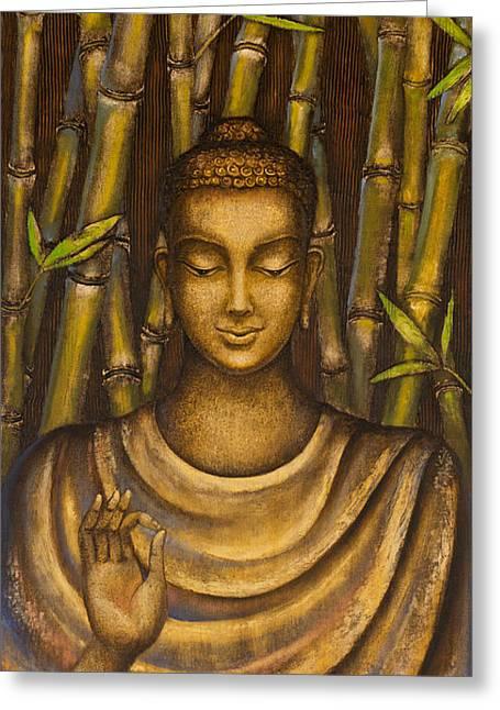 Stillness Speaks Greeting Card by Yuliya Glavnaya