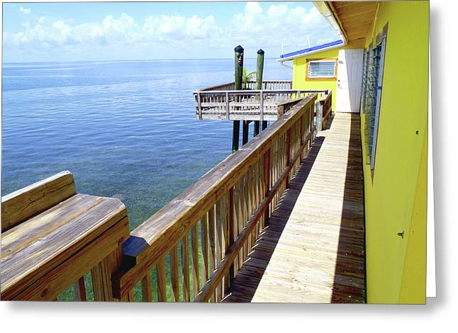Stiltsville View Greeting Card by Carey Chen