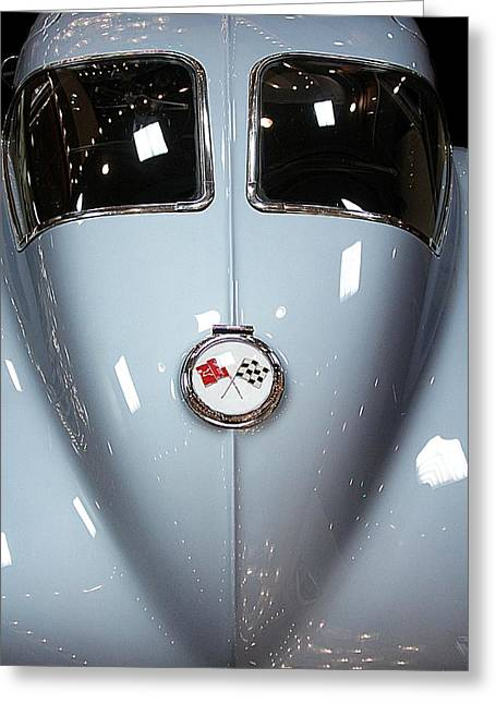 Vehicles Greeting Card featuring the photograph '63 Sting Ray  by Aaron Berg