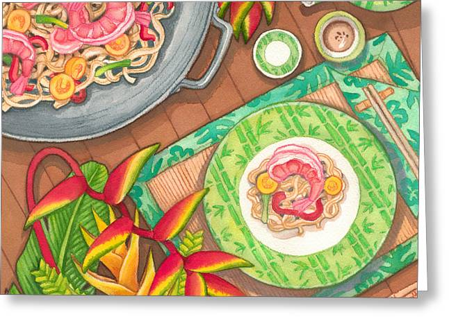 Stir Fry  Greeting Card by Tammy Yee