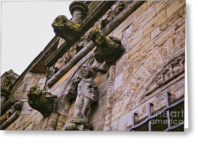 Stirling Castle Detail Greeting Card by Kate Purdy