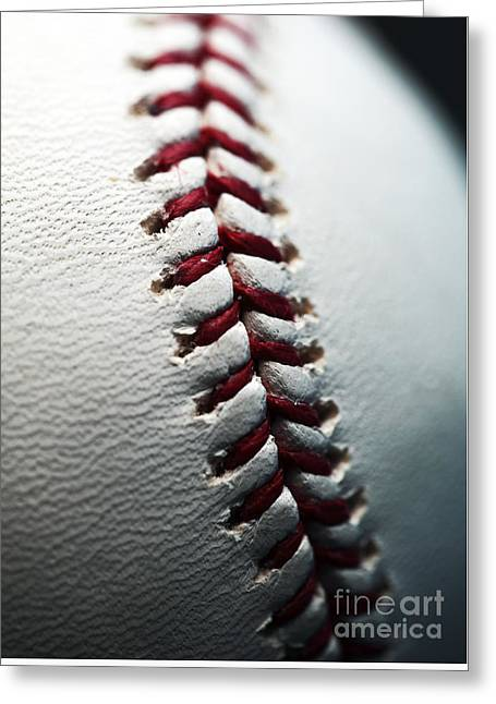 Stitches II Greeting Card by John Rizzuto