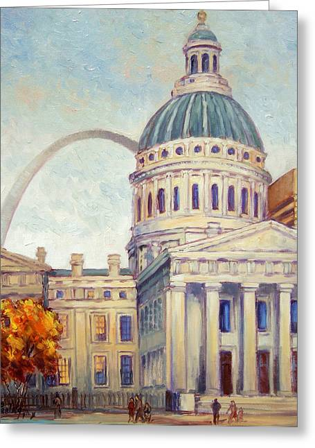 St.louis Old Courthouse Greeting Card