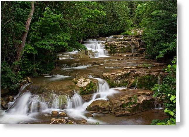 Greeting Card featuring the photograph Stockbridge Falls by Dave Files