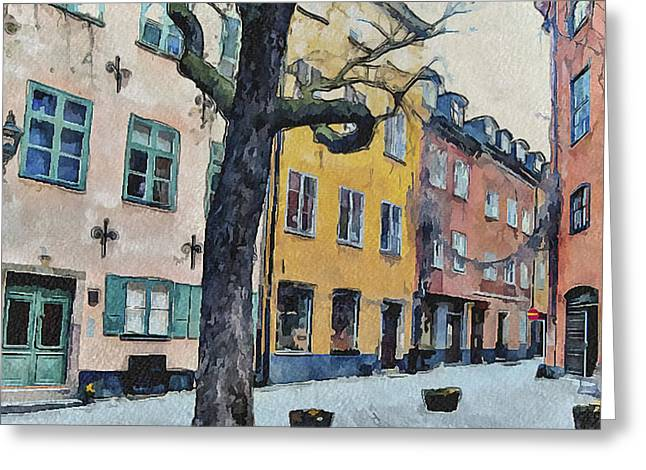 Stockholm 14 Greeting Card by Yury Malkov