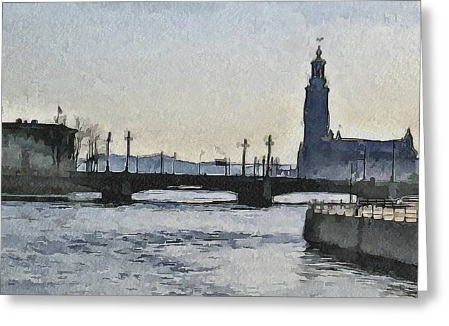 Stockholm 9 Greeting Card