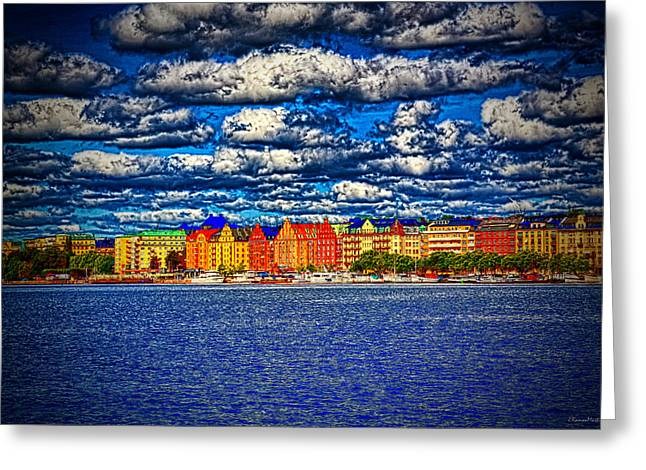 Stockholm Experimental Hdr Greeting Card by Ramon Martinez