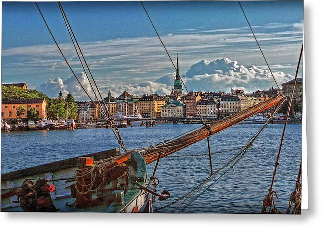 Stockholm Greeting Card by Hanny Heim
