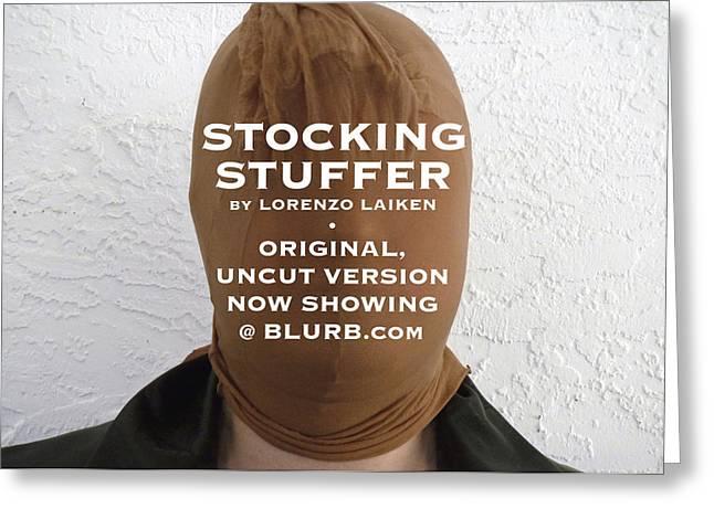 Stocking Stuffer  Uncut Greeting Card by Lorenzo Laiken