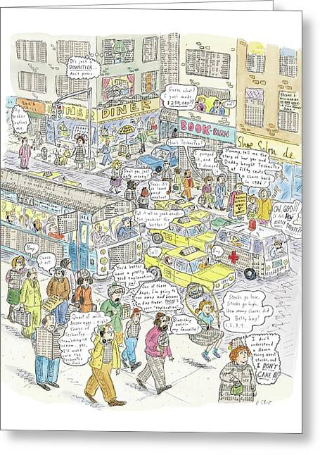 'stockopolis' Greeting Card by Roz Chast