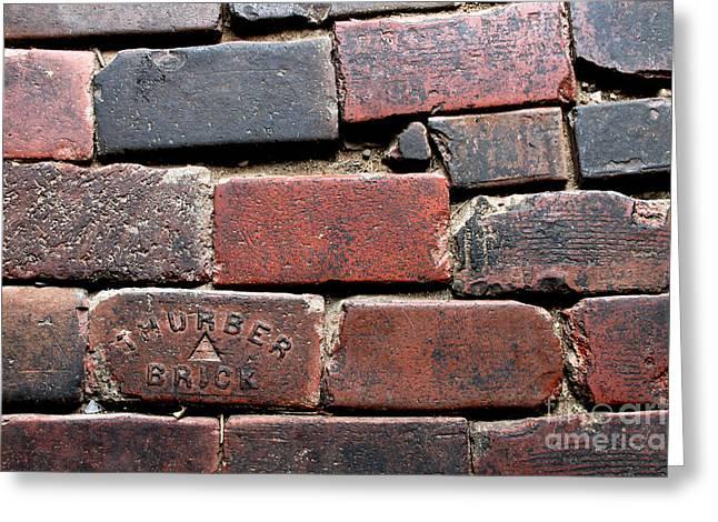 Stockyards Brick Greeting Card