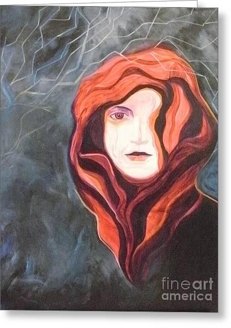 Stoic Greeting Card by Carolyn LeGrand