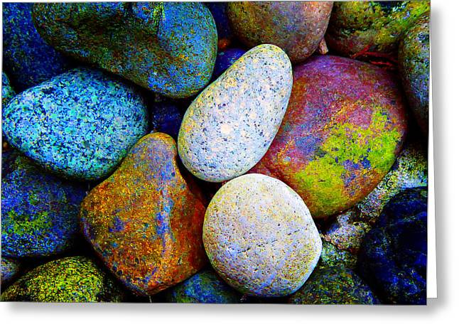 Stone And Light 9 Greeting Card by Laurie Tsemak