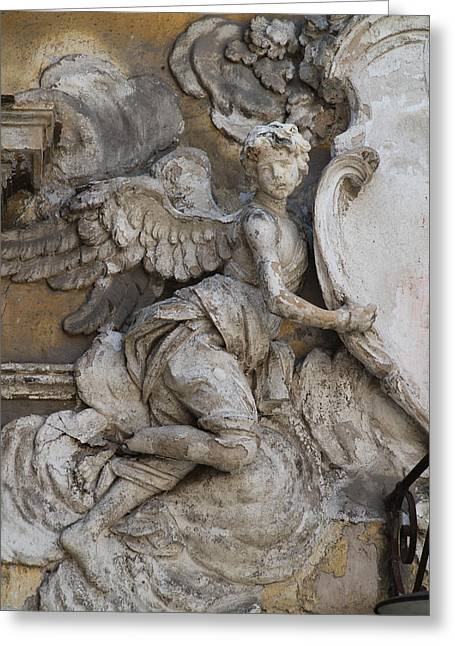 Stone Angel, Monreale, Sicily Greeting Card