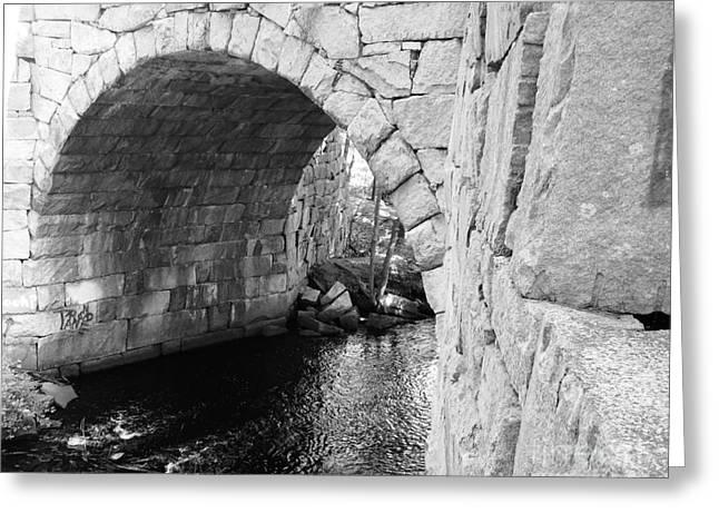 Stone Arch Bridge 3 Greeting Card by Barbara Bardzik