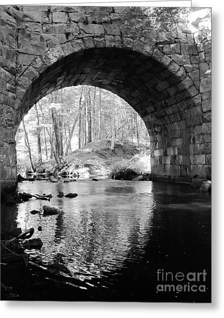 Stone Arch Bridge  Greeting Card by Barbara Bardzik