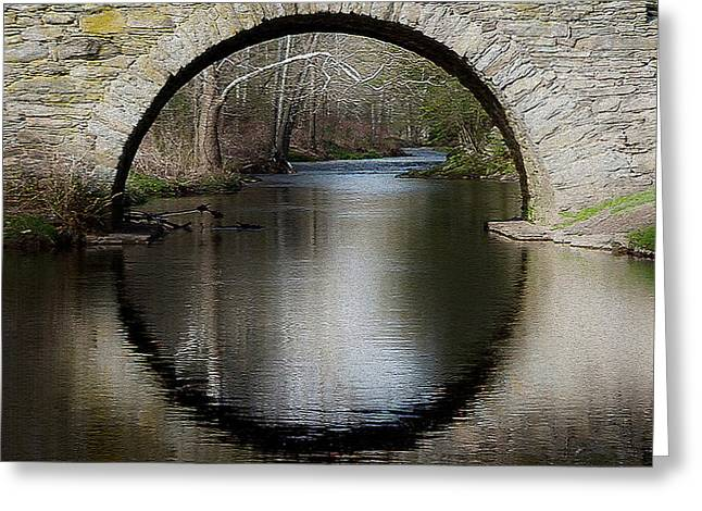 Stone Arch Bridge - Craquelure Texture Greeting Card