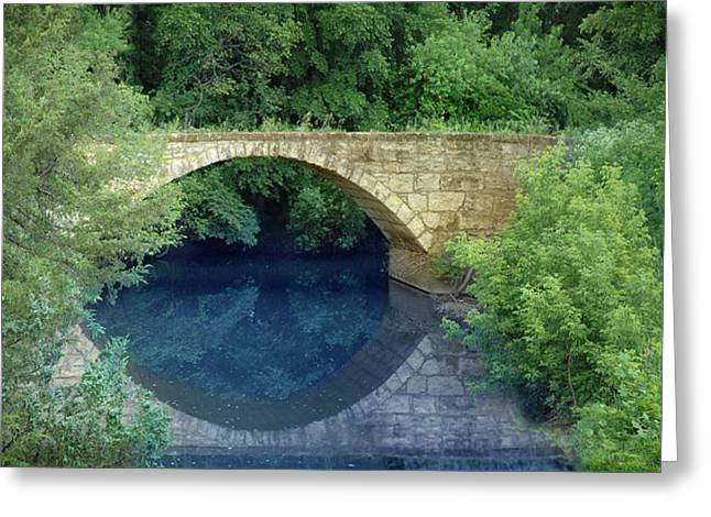 Stone Arch Bridge In Butler County Greeting Card