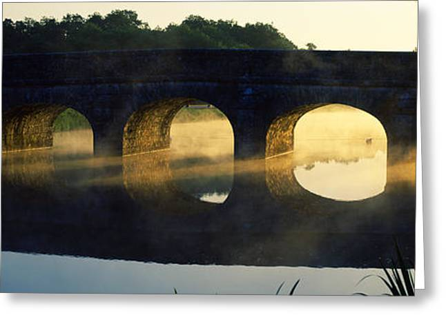 Stone Arch Bridge Over A River, Loire Greeting Card by Panoramic Images