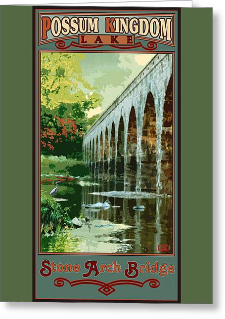 Stone Arch Bridge Possum Kingdom Greeting Card by Jim Sanders