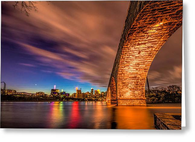Stone Arch Minneapolis Greeting Card by Mark Goodman