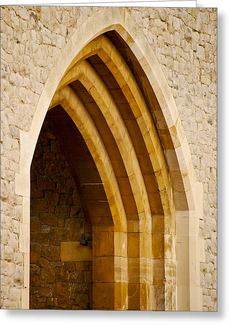 Stone Archway At Tower Hill Greeting Card by Christi Kraft