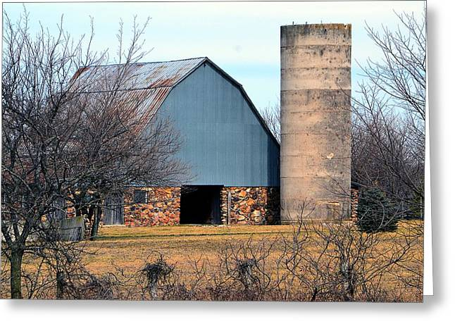 Stone Barn Greeting Card by Deena Stoddard