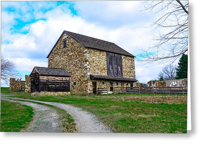 Stone Barn In Chester County Pennsylvania Greeting Card by Bill Cannon