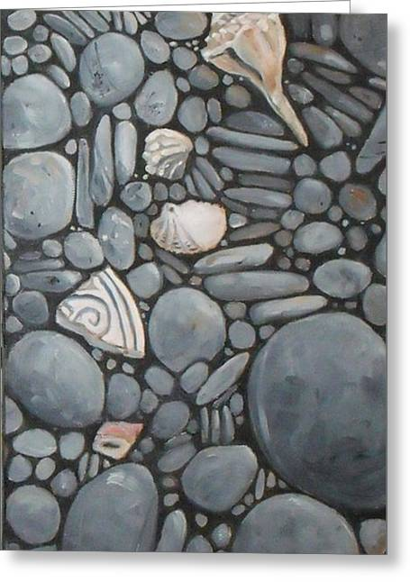 Stone Beach Keepsake Rocky Beach Shells And Stones Greeting Card