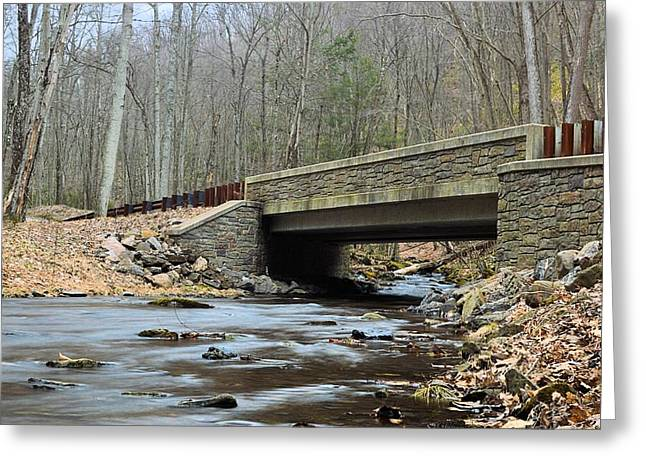 Stone Bridge At Cherry Run #1 - Bald Eagle State Forest Greeting Card