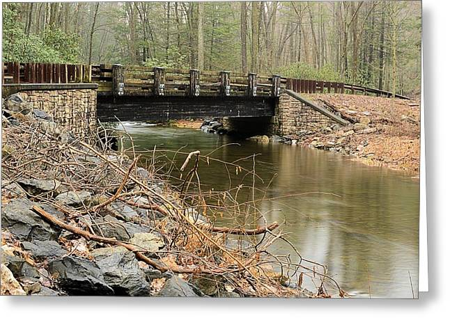 Stone Bridge At Weikert Run #1 - Bald Eagle State Forest Greeting Card
