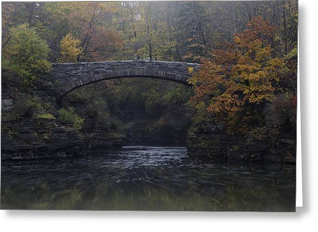 Stone Bridge In Autumn II Greeting Card