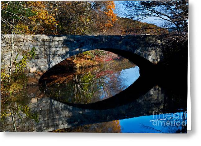 Stone Bridge Greeting Card by Jim  Calarese