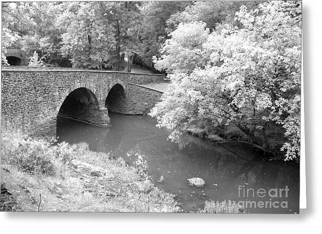 Stone Bridge Manassas Greeting Card