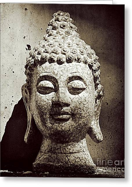 Stone Buddha Greeting Card by Kate McKenna