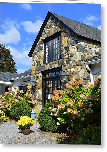 Stone Building In Connecticut Greeting Card