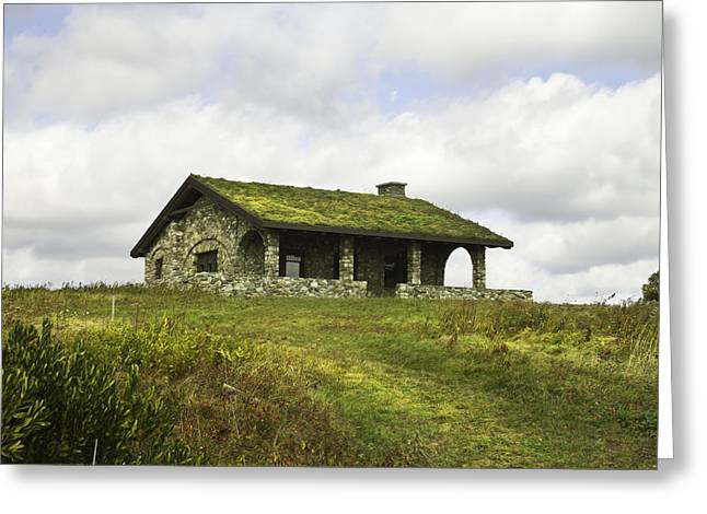 Stone Building On Beech Hill Rockport Maine Greeting Card
