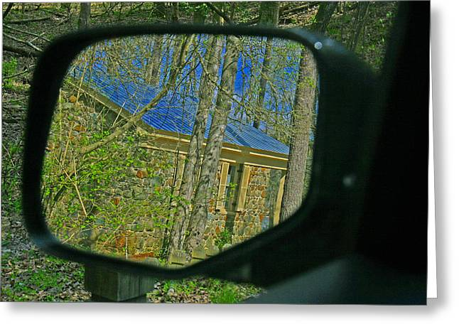 Greeting Card featuring the photograph Stone Cabin Reflection by Andy Lawless
