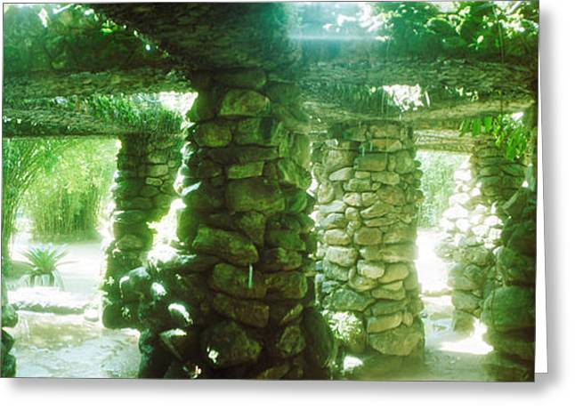 Stone Canopy In The Botanical Garden Greeting Card by Panoramic Images