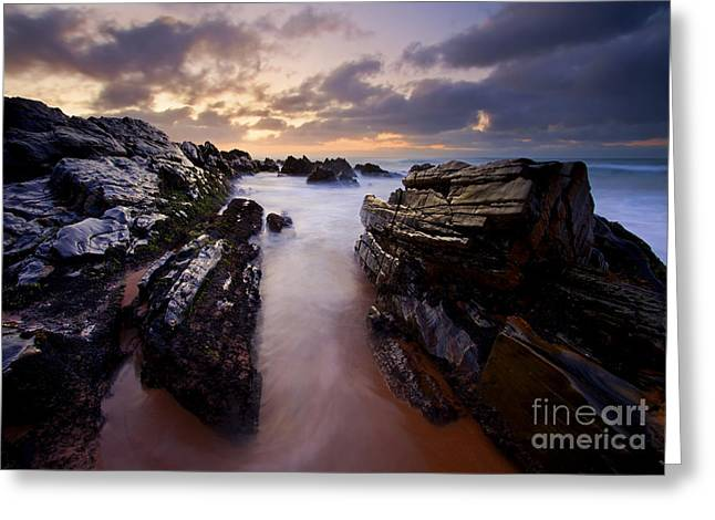 Stone Channel Greeting Card by Mike  Dawson