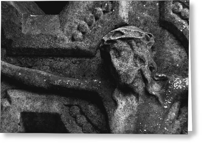Stone Christ Greeting Card by Brainwave Pictures